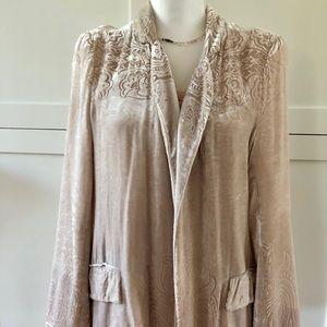 Zara Velvet Blazer Jacket, sz L
